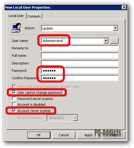 local admin password reset gpo