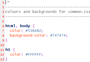 Sample CSS File