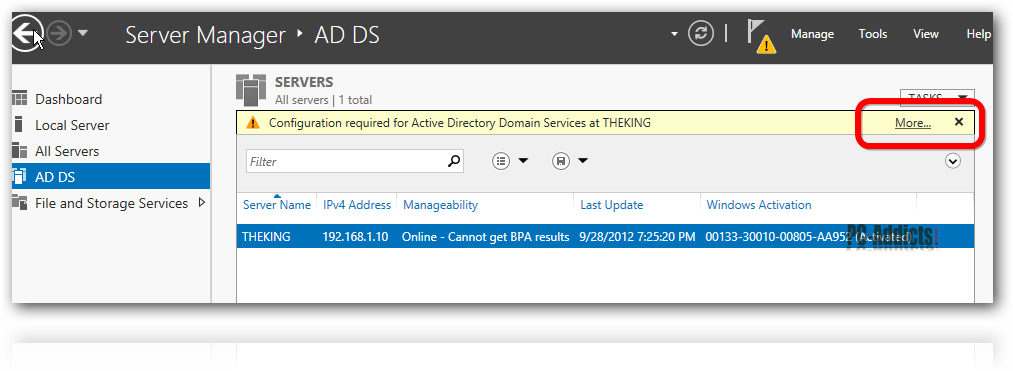 Server 2012 AD DS More