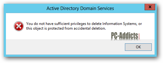 Server 2012 OU Permissions Accidental Deletion