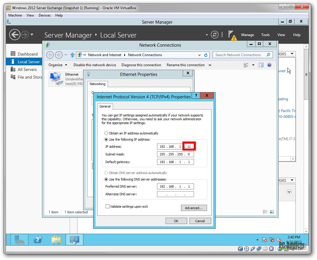 VBox Server 2012 Clone IP Change