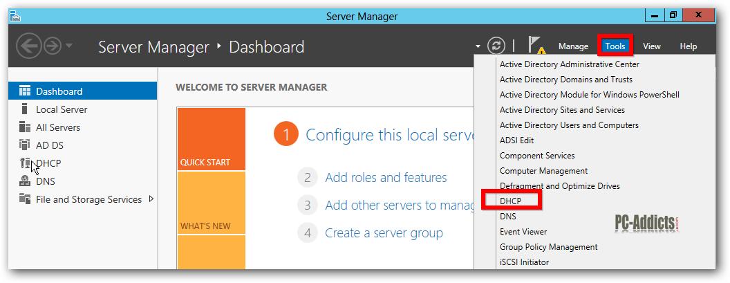 Server 2012 DHCP MMC