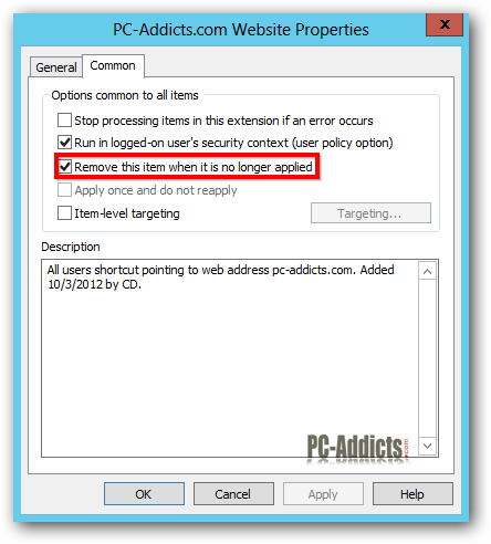 Server 2012 Remove Item No Longer Applied