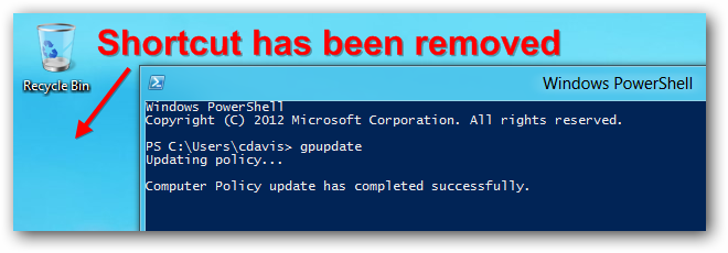 Server 2012 Removed Deployed Shortcut Gpupdate