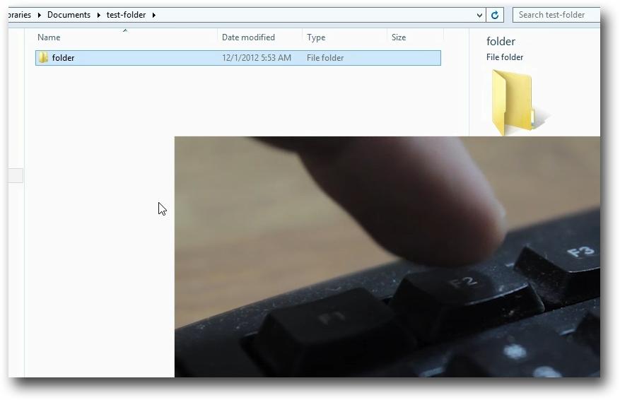 rename files and folders hotkey f2