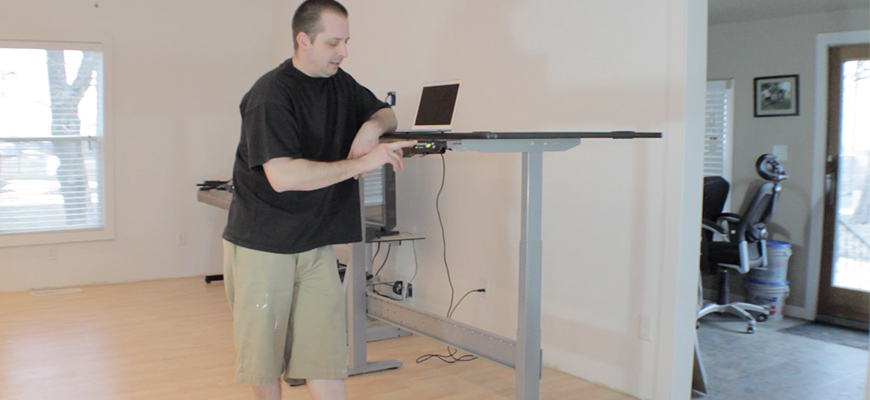 Huge Motorized Sit-Stand Desk