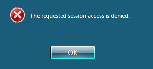 CoRD NLA Error - The requested session access is denied