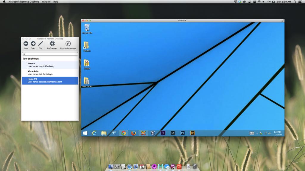 Microsoft Remote Desktop Client for Mac OS X Mavericks