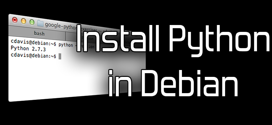 Install Python on Debian