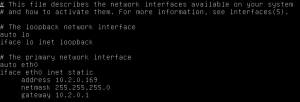 Debian_Static_Interface