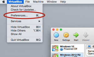 VirtualBox Preferences - PC-Addicts