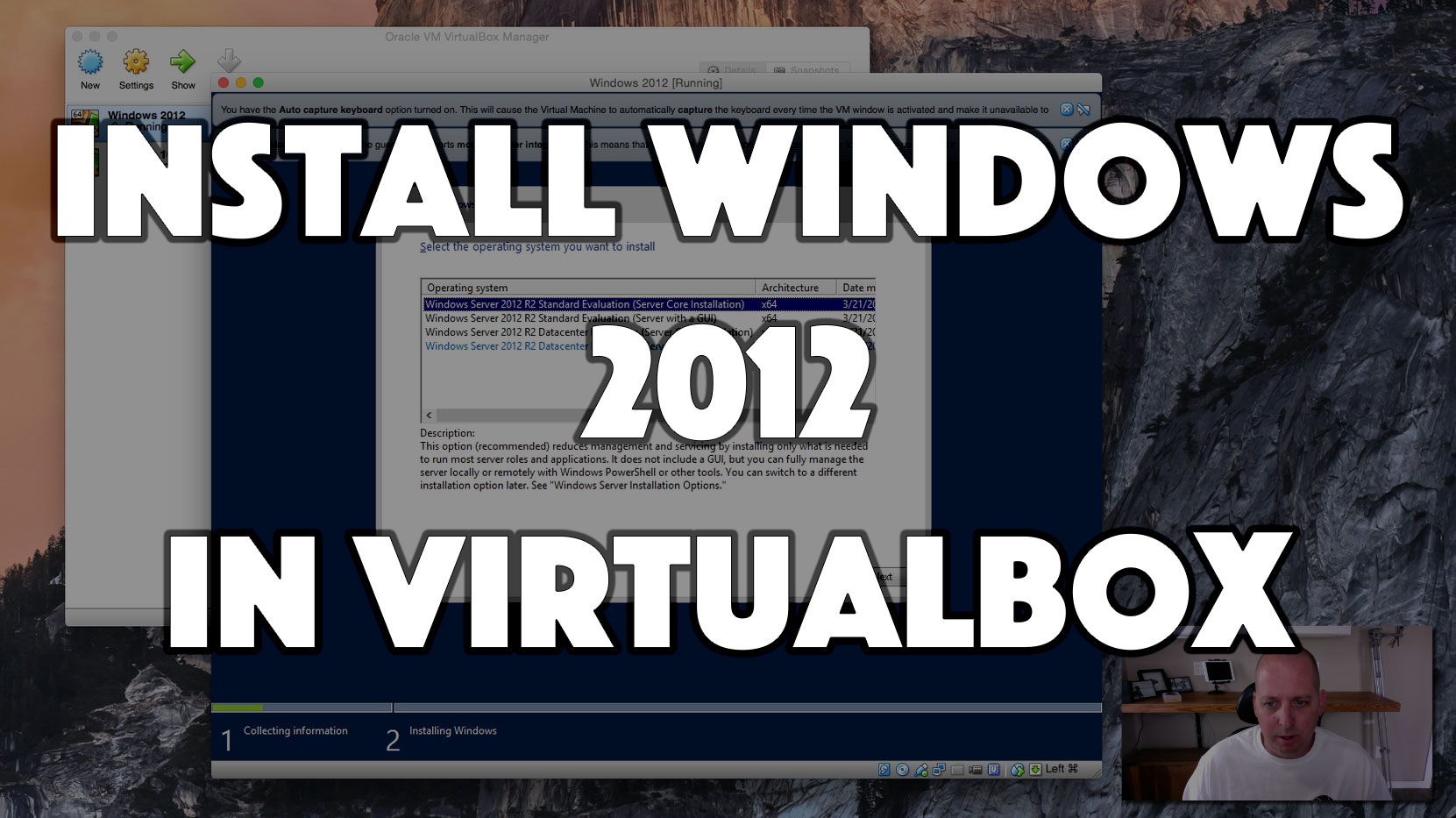Install Windows 2012 in VirtualBox