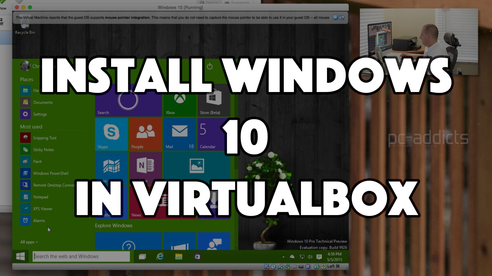 Install Windows 10 in VirtualBox
