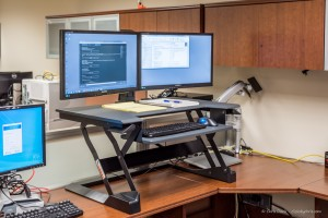 tabletop standing desk by Ergotron