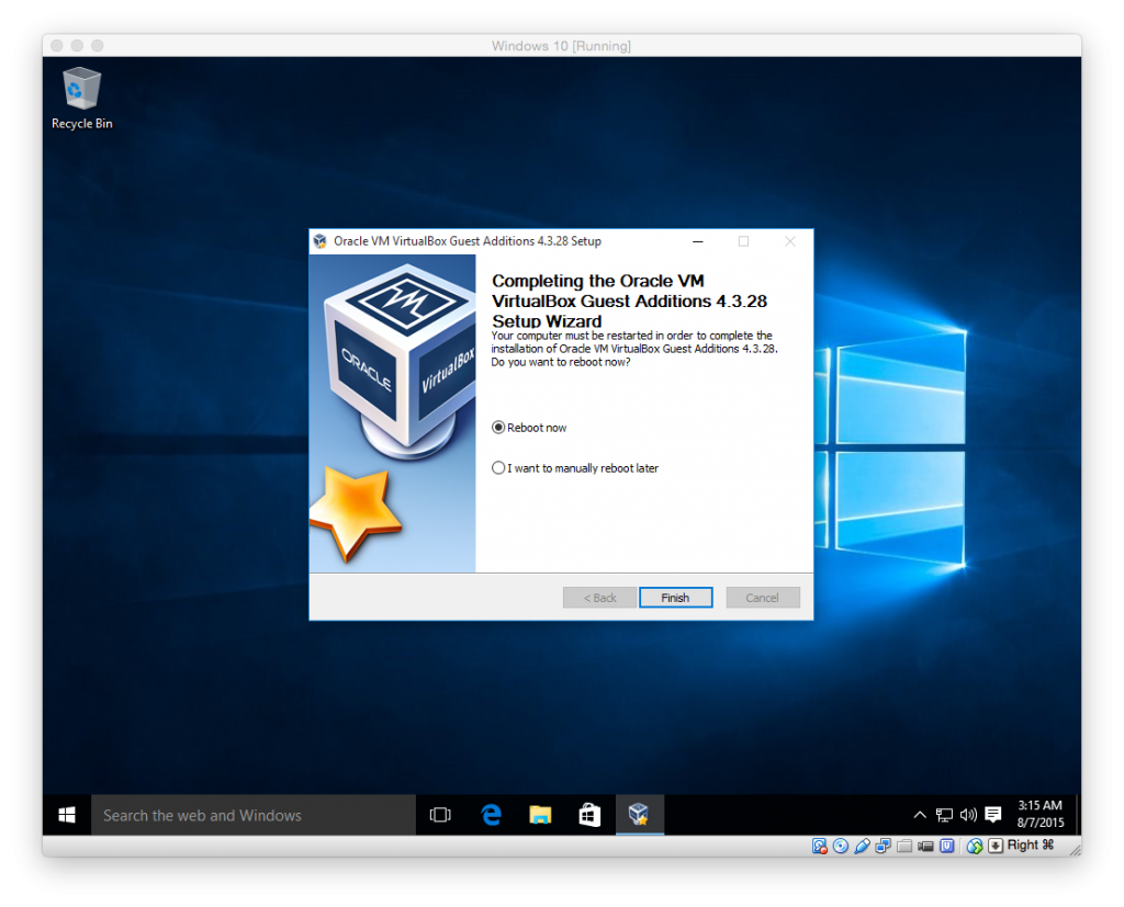 Install Windows 10 RTM in VirtualBox on Mac OS X