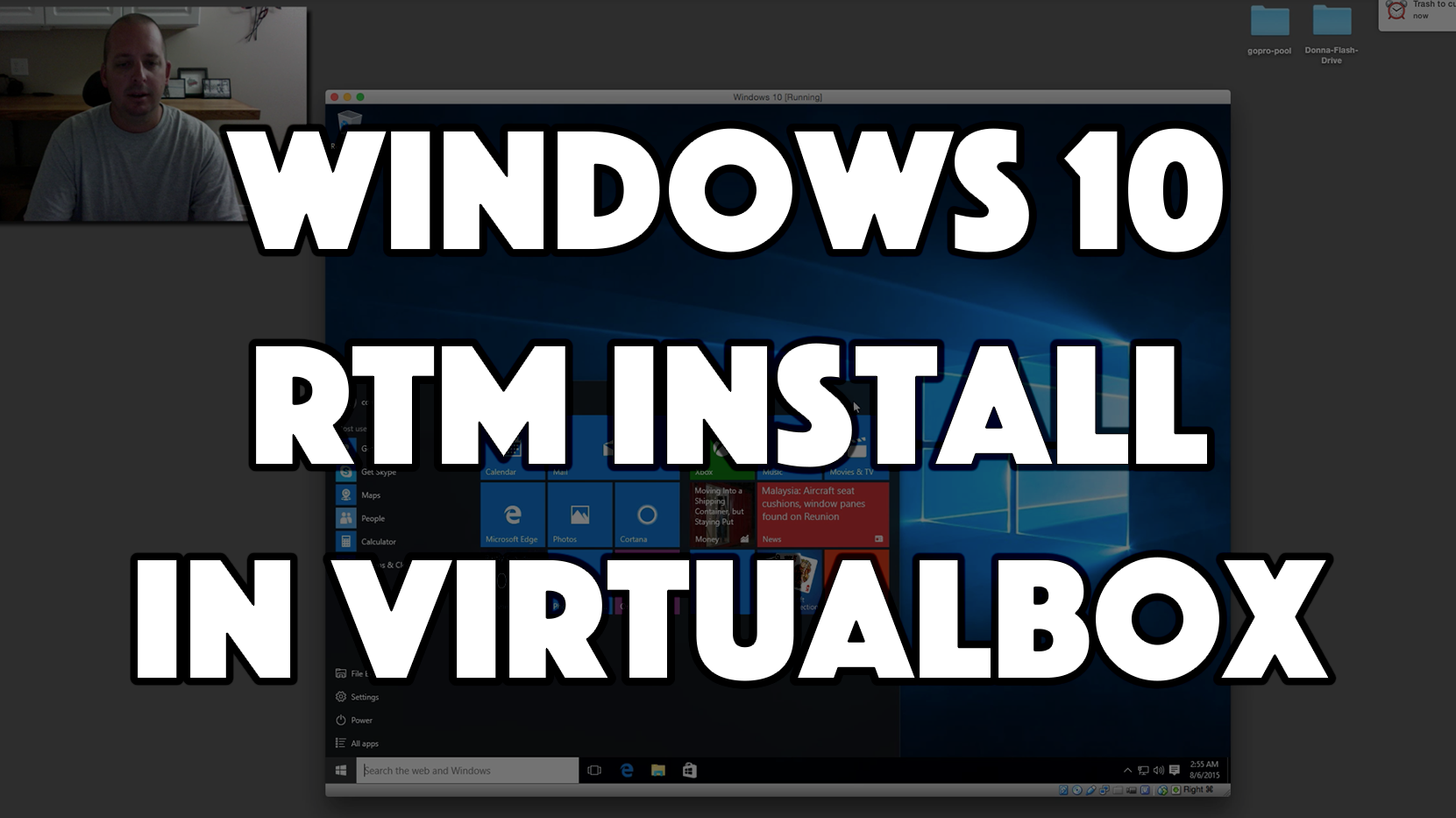 Windows 10 RTM in Virtualbox