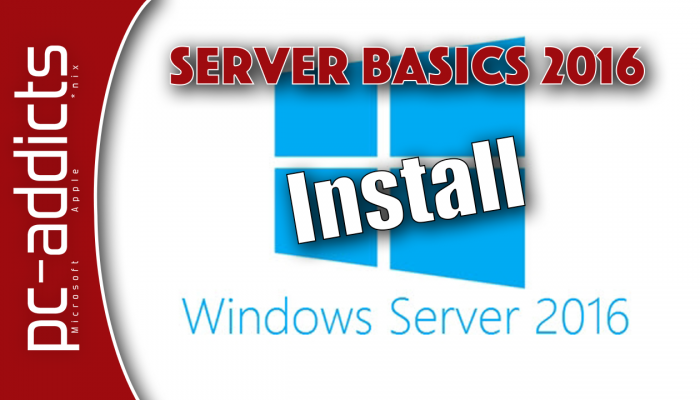 Install Server 2016