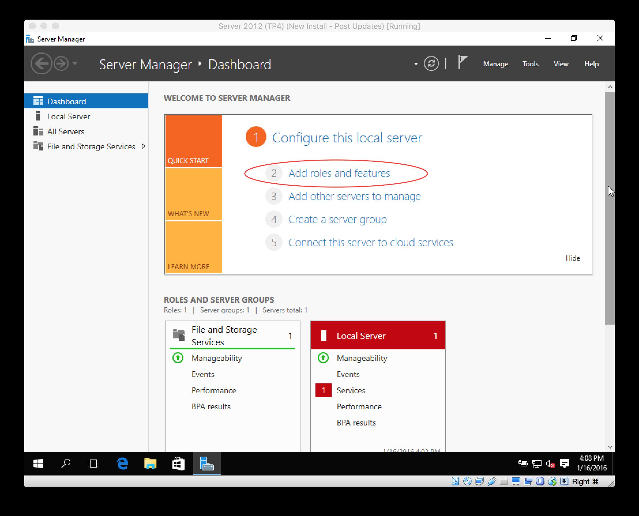 Setup Active Directory Server 2016