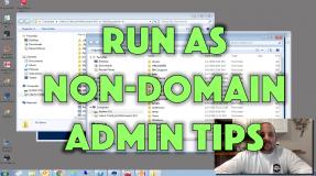 Run as Non-Domain Admin Tips